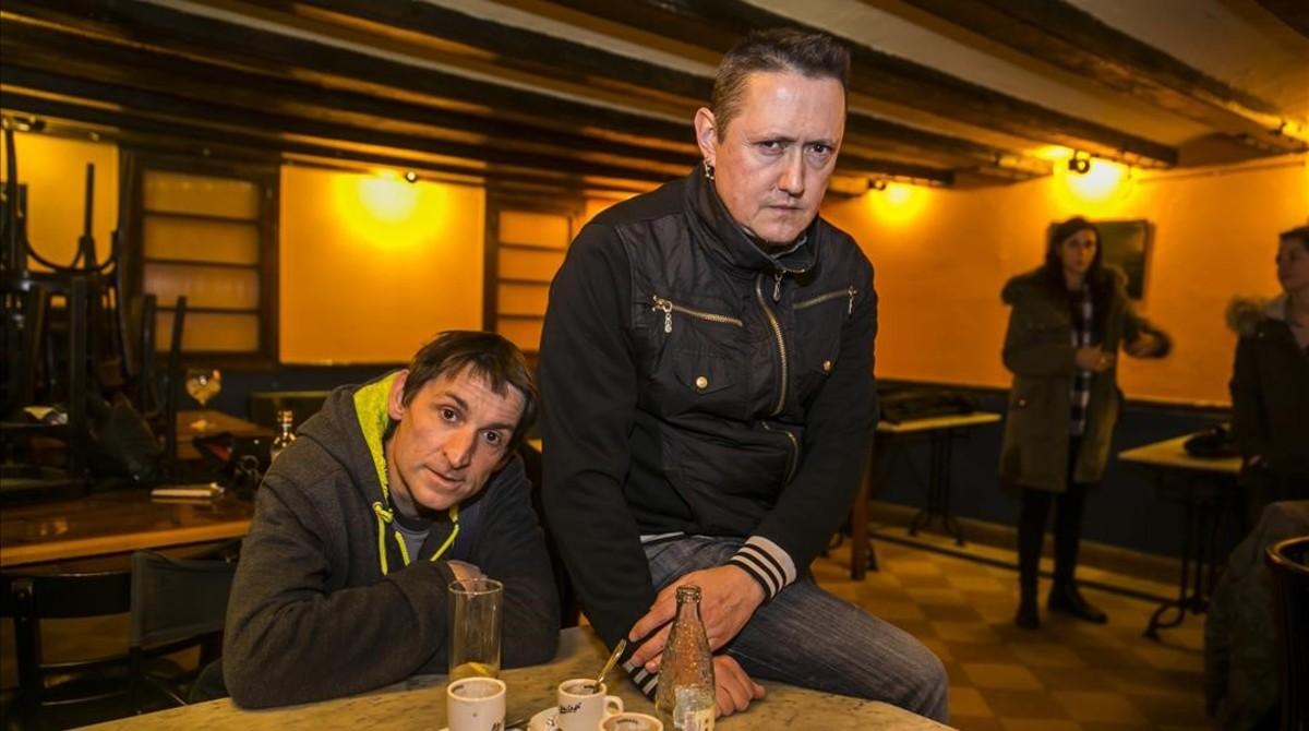 Albert Pla y Fermin Muguruza, dos de los participantes en el macroconcierto de No Callarem.