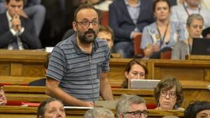 Benet Salellas reconoce que el Govern no estaba preparadopara un escenario deunilateralidadpura.