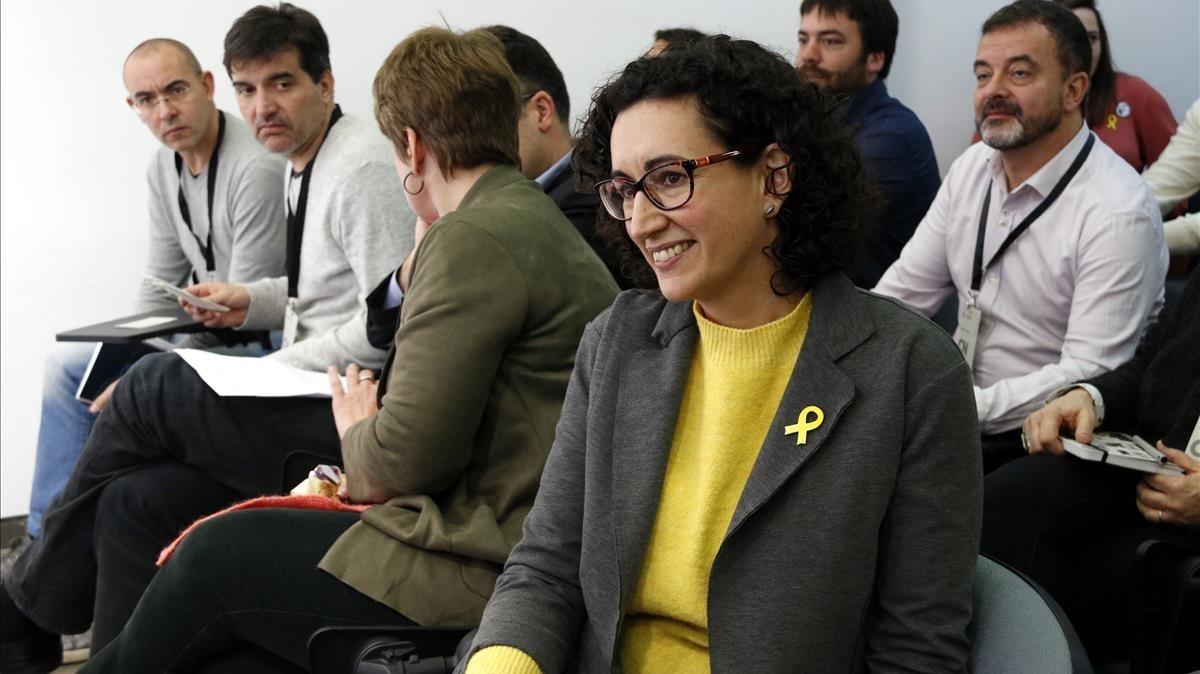 La secretaria general de ERC,Marta Rovira, en el consejo nacional de ERC