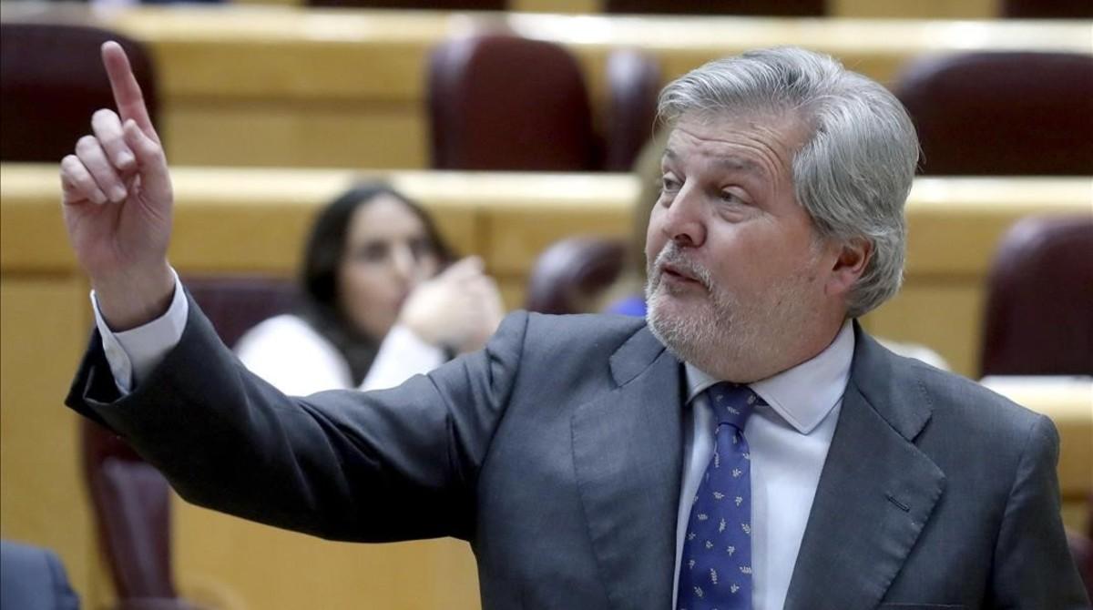 Iñigo Méndez de Vigo, este martes en el Congreso de los Diputados.