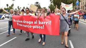 Una de las pancartas de la manifestación del pasado 15 de septiembre.