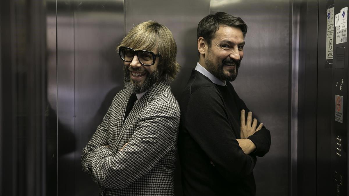 Oscar Andreu y Oscar Dalmau aparecen tambiénen el late show de TV3llamadoLa nit dels Óscars