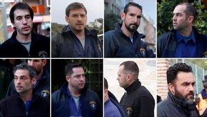 De izquierda a derecha, Rubén García Ares, José Antonio Huerta, Jesús Fernández Prado, Sergio Tuñón, Antonio Ortega, Maidilio Suárez, Adrián Villarroel y LázaroAlves Gutiérrez.