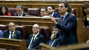 La precipitación de Albert Rivera en la constitución de las cortes españolas
