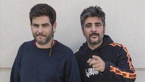 Jose y David Muñoz, Estopa, este jueves.