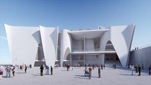 Imagen virtual del futuro museo Hermitage en Barcelona.