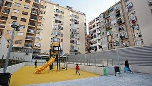 BCN obre un jardí urbà a l'interior d'illa de l'antic Cine Urgell
