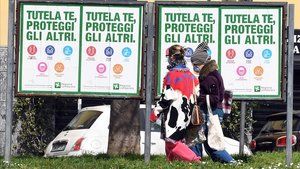 Itàlia manté la tendència a la baixa de contagis per quart dia consecutiu