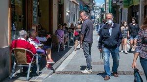 Fase 1 en una de las calles principales de Sitges