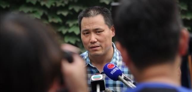 Pu Zhiqiang habla ante la prensa, en Pekín, el 20 de julio del 2012.