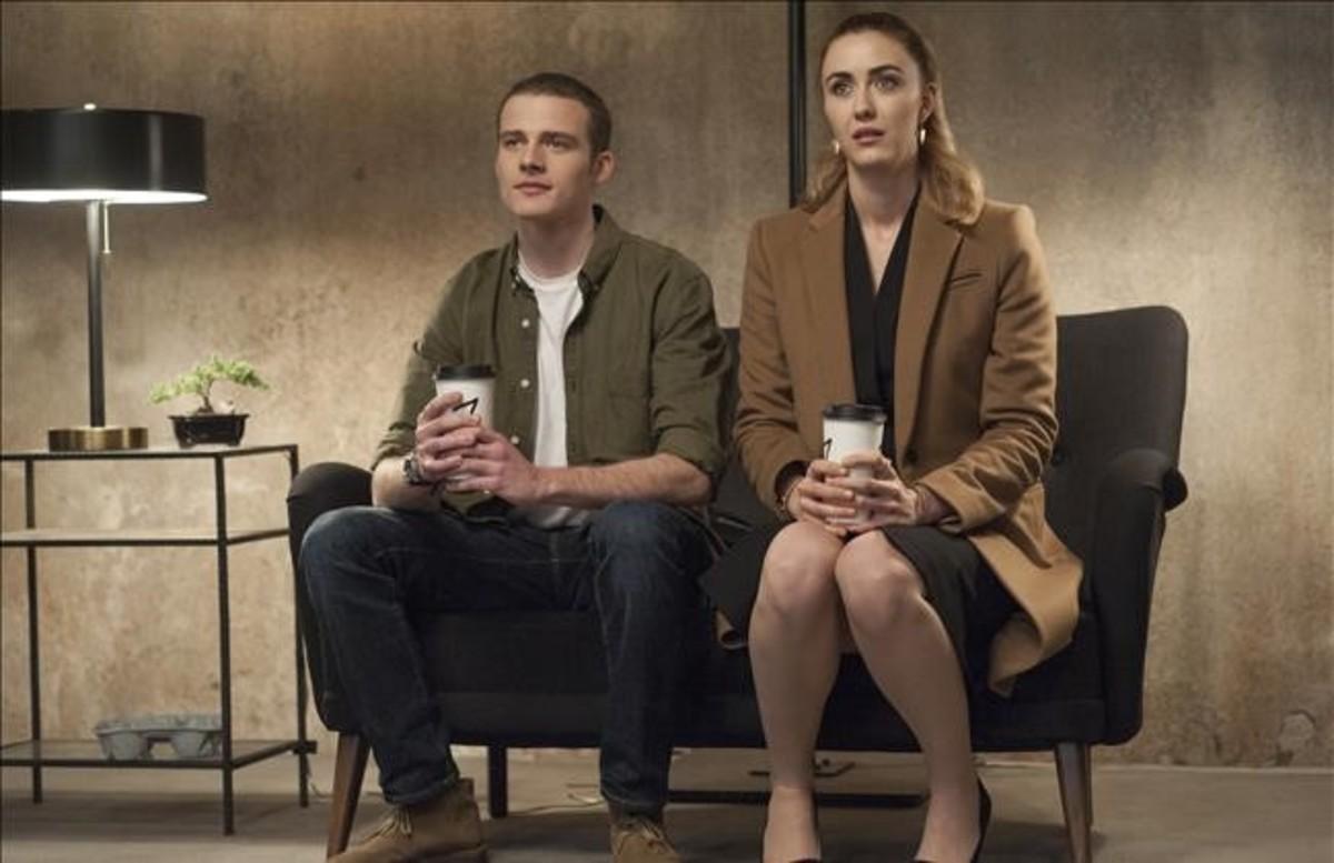 Ben Rosenfield y Madeline Zima, en lo nuevo de 'Twin Peaks'.