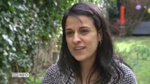 Anna Gabriel, ayer, en una cadena de radio y televisión suiza.