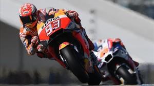 Márquez logra su tercera victoria seguida del mundial en Le Mans.