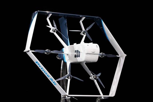 Amazon presenta un dron de entrega ecológicamente sostenible