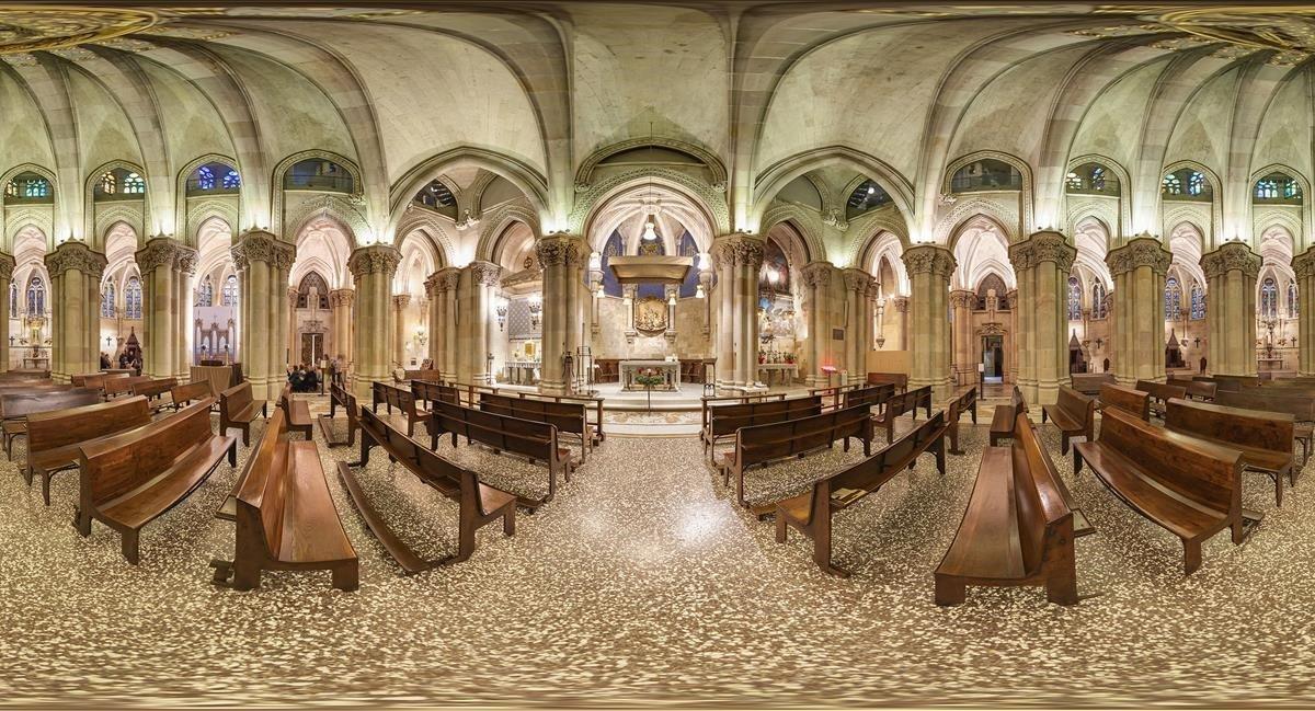 La cripta de la Sagrada Família en 360 grados
