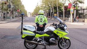 La policía municipal de Madrid, en una foto de archivo.