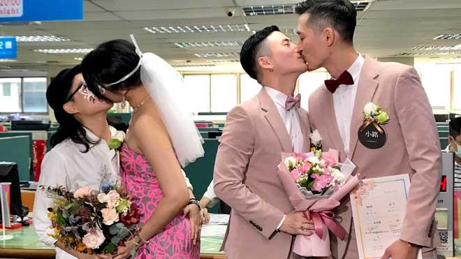 Taiwan celebra els primers matrimonis homosexuals de l'Àsia