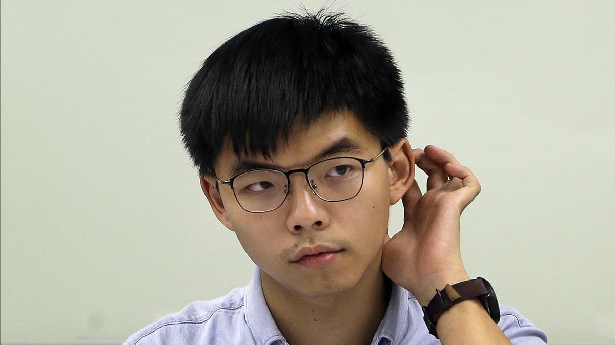 El activista hongkonés Joshua Wong.