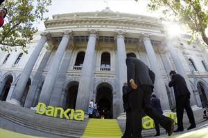 Acto de presentación de la salida a bolsa de Bankia, en el 2011.