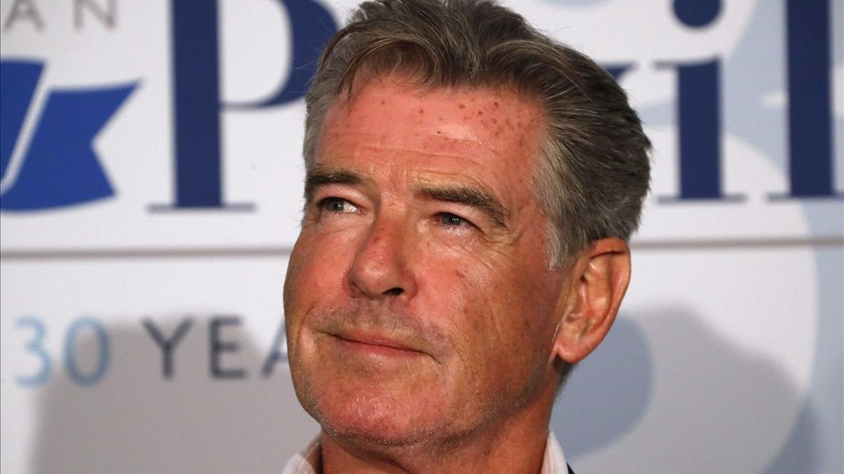 El actor Pierce Brosnan, en el festival de Cannes del 2018.