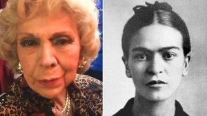 La actriz de doblaje Amparo Garrido y la pintora Frida Kahlo.