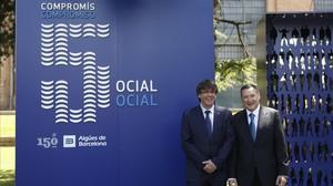 """Puigdemont defiende """"pluralidad"""" de proveedores en los servicios públicos"""