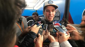 Àlex Márquez (Kalex), campeón de Moto2, celebra que Honda piense en él para MotoGP.