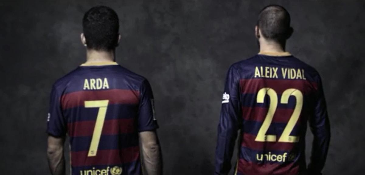Arda y Vidal en un anuncio de Nike.