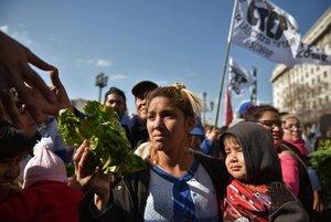 Protestas en Argentina por la grave situación económica.