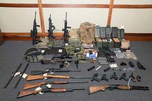 Las armas con las que un teniente de los EEUUplaneaba un ataque masivo.