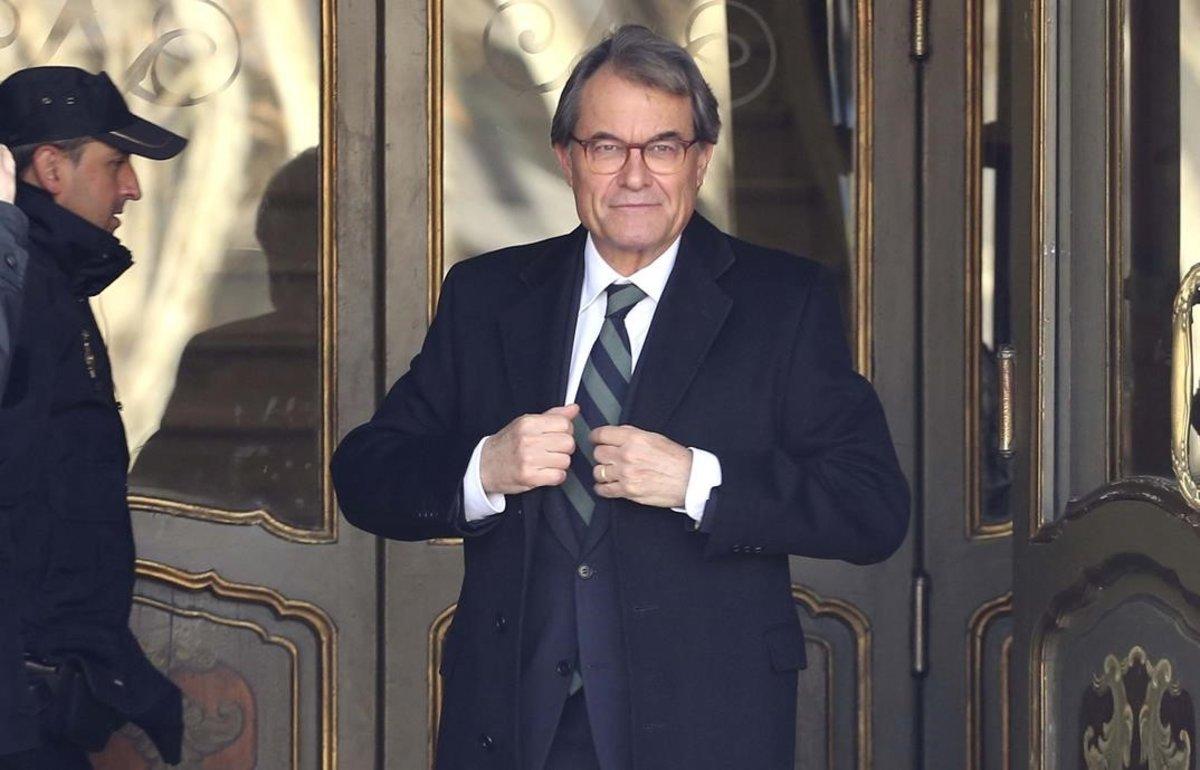 Artur Mas sale del Tribunal Supremo.