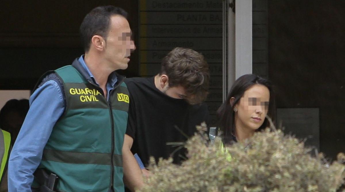 El asesino de Pioz, François Patrick Nogueira Gouveia, cuando fue detenido.