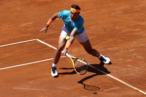 Tennis - ATP 1000 - Italian Open - Foro Italico, Rome, Italy - May 16, 2019 Spains Rafael Nadal in action during his second round match against Frances Jeremy Chardy REUTERS/Matteo Ciambelli