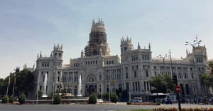 Exterior del Ayuntamiento de Madrid.