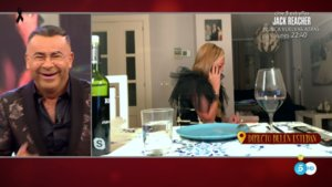 Belén Esteban pillada en 'La última cena'.