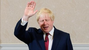 Boris Johnson durante una comparecencia en Londres.
