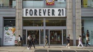 Una tienda de Forever 21 en Manhattan, Nueva York
