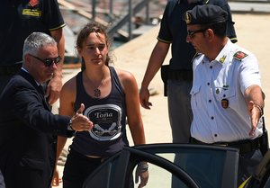 Carola Rackete, capitana del barco Sea Watch.