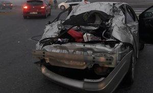 """Una dona agraeix ser viva després d'un accident de cotxe i busca les """"dues noies"""" que la van abraçar"""