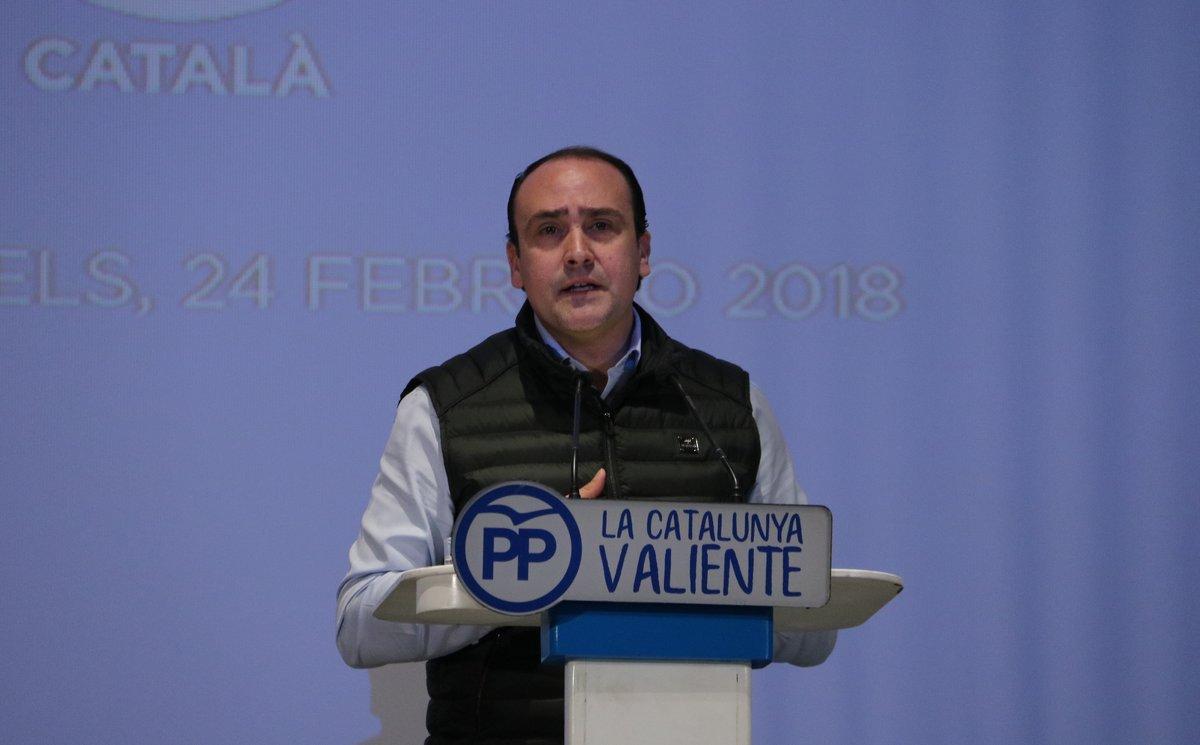 Daniel Serrano, en un acto del PPC.
