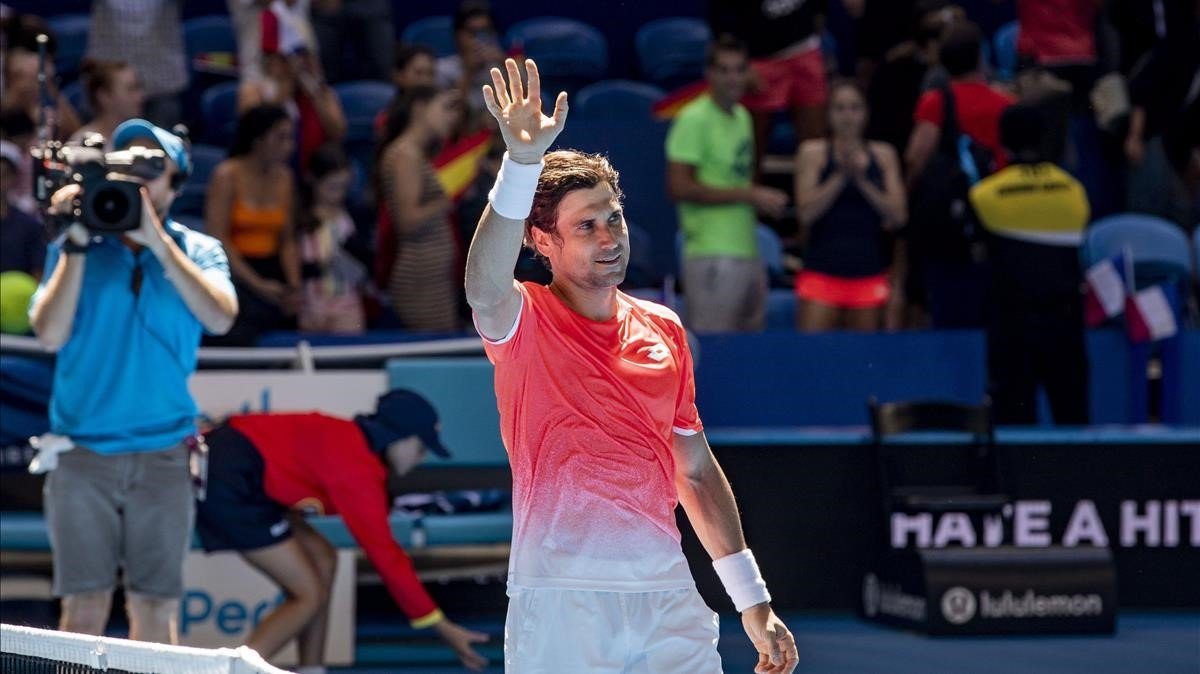 David Ferrer, en uno de sus últimos partidos, en Perth (Australia).