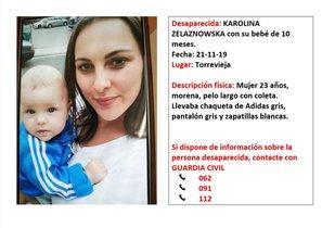 Desaparecida una mujer, protegida por violencia machista, y su bebé