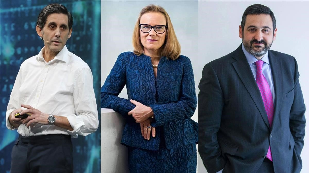 José María Álvarez-Pallete (Telefónica), Belén Garijo (Merck Healthcare) y Álex Cruz(British Airways), candidados al Premio AED del 2019.