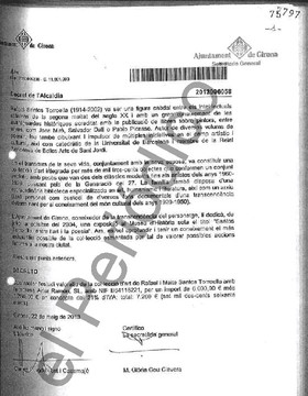 Estos son los documentos que acreditan para los investigadores que Puigdemont encargó la tasación del fondo artístico Santos Torroellacuando ya llevaba hecha más de un mes.