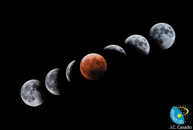 Evolución del Eclipse Total de Luna del 4 de mayo de 2004