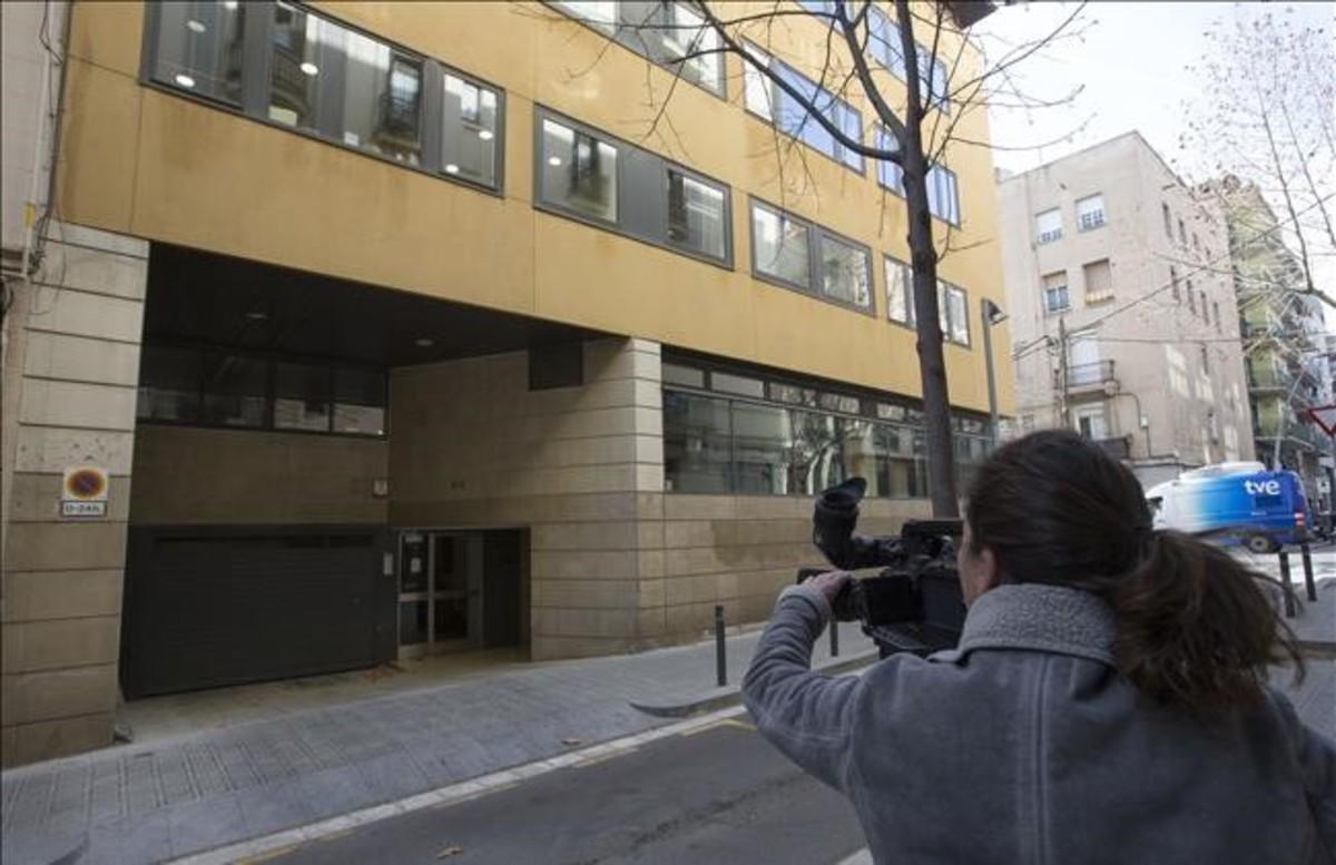 Fachada del colegio de los Maristas de Sants-Les Corts, en Barcelona.
