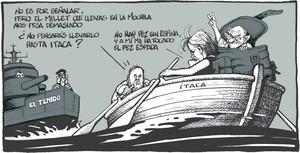 El 'cas Palau' en les vinyetes de Ferreres