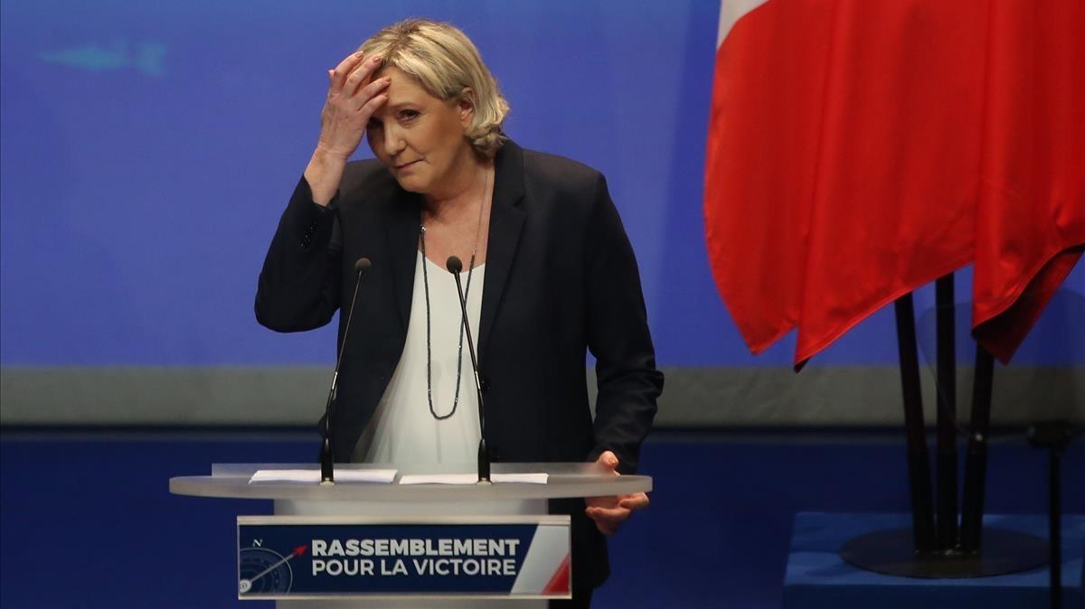 Marine Le Pen durante el congresodel Frente Nacional celebrado el pasado fin de semana.