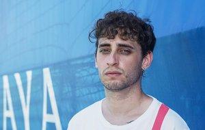 El 'gallo' Blon, aspirante a ganar el campeonato nacional de rimadores, este jueves en la ciudad deportiva del Espanyol