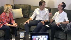 Gemma Nierga, con Àlex Roca y su padre, en 'Els meus fills'.